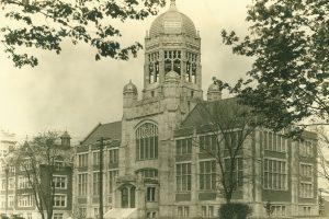 Haas Library, circa 1940.