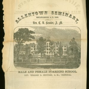 Brochure for the Allentown Seminary, 1859
