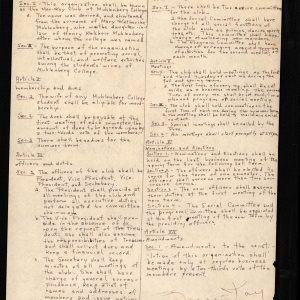 Mar-Kay Club constitution, 1947
