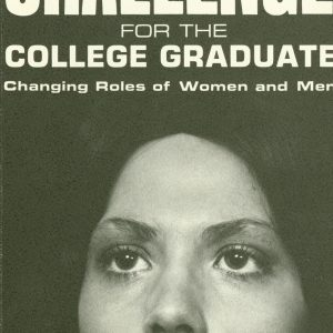 "Cover of brochure for Women's Task Force event ""Choice & Challenge for the College Graduate,"" 1975"