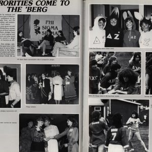 Photo spread from 1984 Ciarla: Sororities come to the 'Berg