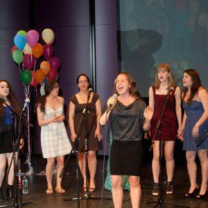 Girls Next Door a capella group performing, 2012