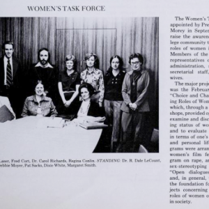 Photograph of Women's Task Force, 1975