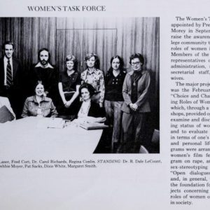 The Women's Task Force, 1975