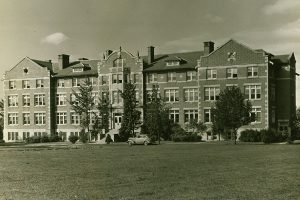 West Hall (now Brown), circa 1940.
