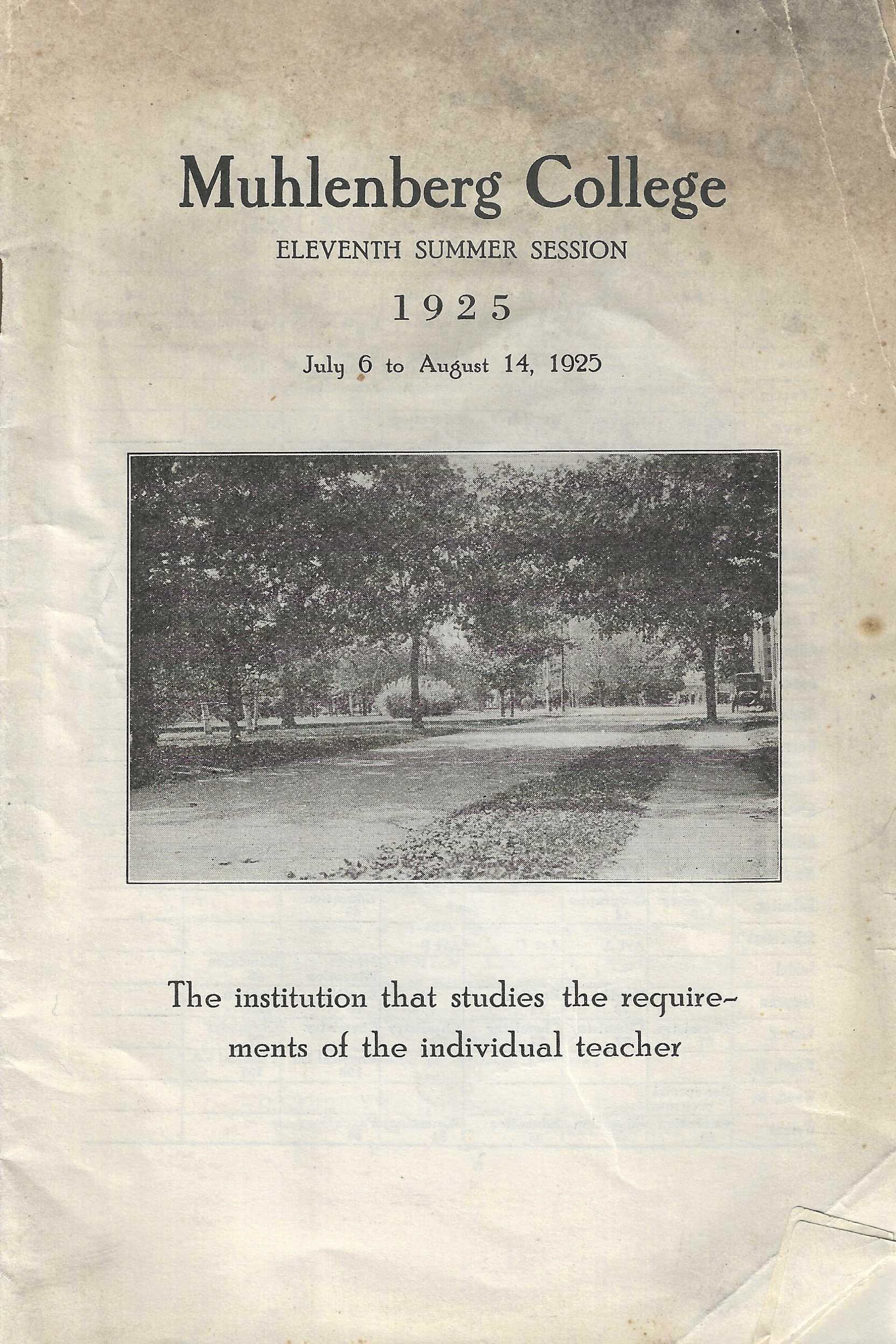 Summer School Brochure, 1925