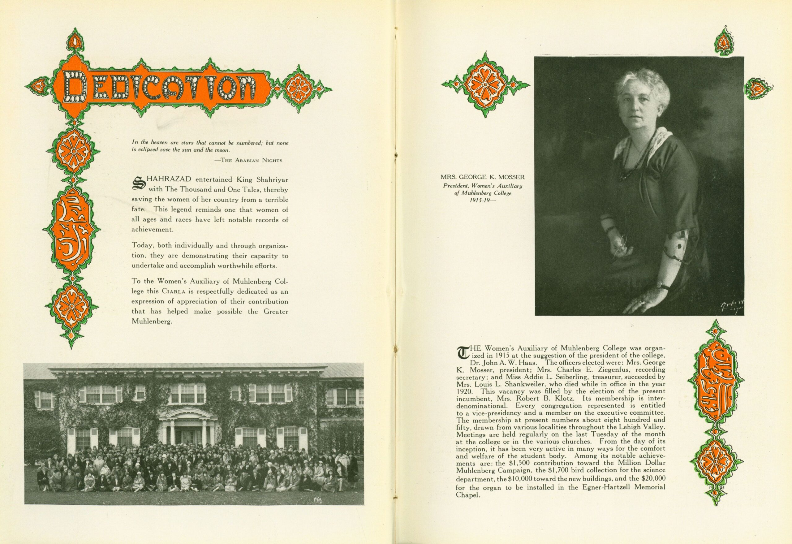 1931 Ciarla page dedicated to the Women's Auxiliary
