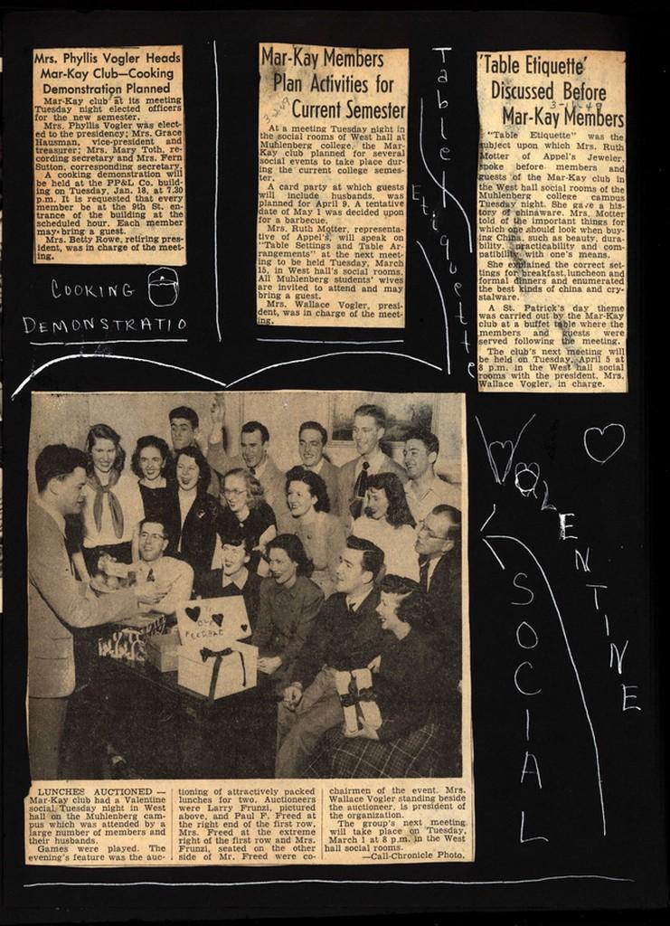 Page of Mar-Kay scrapbook showing activities